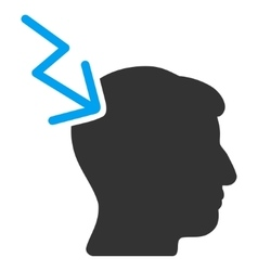 Head Electric Strike Flat Icon vector