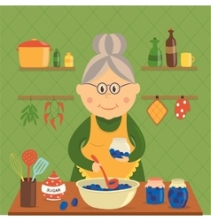 Housewife Cooking Jam Design vector image