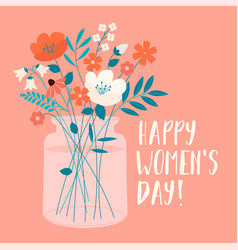 international womens day with spring bouquet vector image