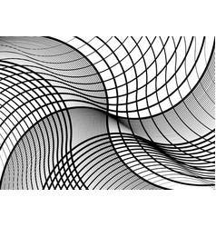 Irregular geometric pattern background with wavy vector