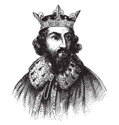 King alfred the great vintage vector