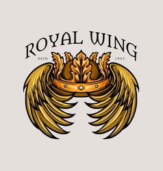 leaf crown royal wing vector image