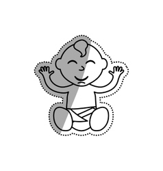 Little baby cartoon vector