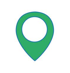 Location symbol to destination travel explore vector
