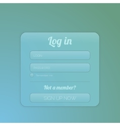 login form ui element vector image