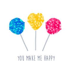 Lollipop with sequins texture vector