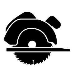 manual circular saw icon black color flat style vector image