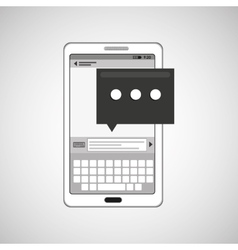 mobile cellphone email texting icon vector image
