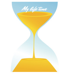 my life time hourglass background image vector image