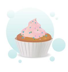 nice cupcake vector image