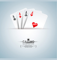 on a casino theme with poker vector image