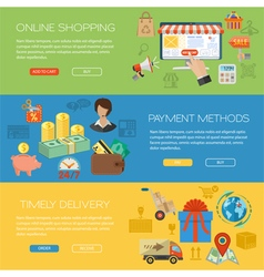 Online Shopping Banners vector image