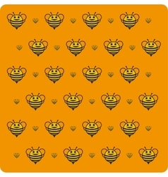 Orange background bee vector image