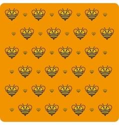 Orange background bee vector