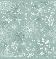 pastel green winter seamless christmas pattern vector image