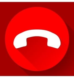 Red Phone Call end Icon vector