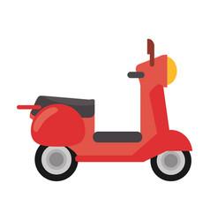 red scooter transport vintage vector image