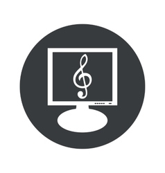 Round music monitor icon vector