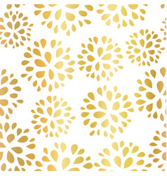 Seamless floral gold foil pattern vector
