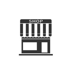 shop icon flat vector image
