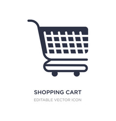 Shopping cart with grills icon on white vector
