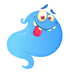 Silly cartoon ghost vector