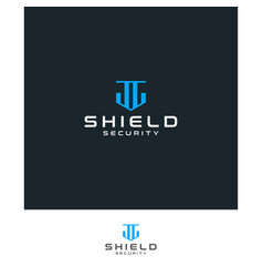 simple abstract shield icon vector image