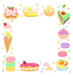 Sweet confection frame vector