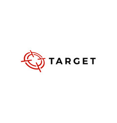 Target sniper scope red logo icon vector
