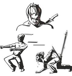 teen warriors of martial arts vector image