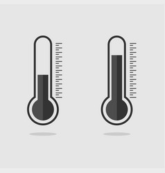 template black thermometers web icons thermometer vector image