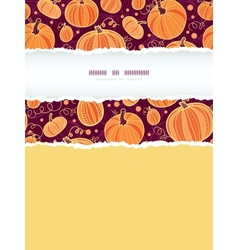 thanksgiving pumpkins vertical torn frame seamless vector image