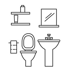 Toilet room icon outline style vector