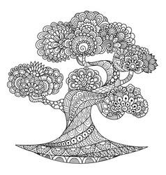 tree 6 vector image