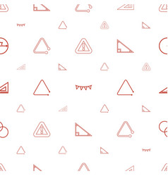 triangle icons pattern seamless white background vector image