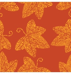 Tribal tattoo pattern Ivy leaf vector
