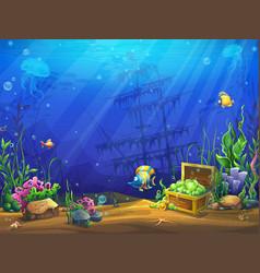 underwater ocean vector image