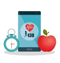 Weareable technology with healthy lifestyle vector