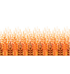 Wheat ears pattern agriculture background vector