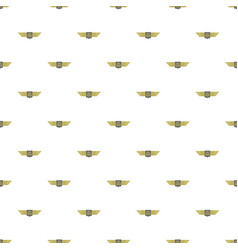 wings fighter pattern seamless vector image