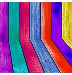Colorful wooden with copyspace EPS8 vector image