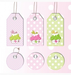 cup cake tags vector image