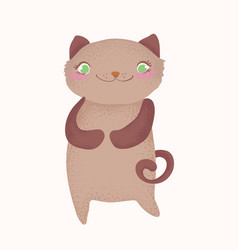 cute and funny cartoon cat character cartoon vector image vector image