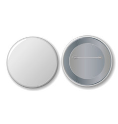 white badge with place for your text vector image