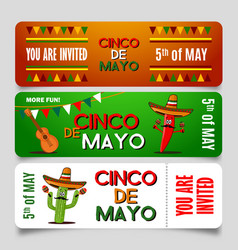 cinco de mayo poster design template with vector image