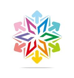 star symbol hexagon design vector image vector image