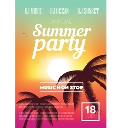 Summer Beach Party Flyer vector image vector image