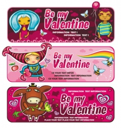 Val banners vector image vector image