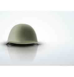 Background with Military classic helmet vector image vector image