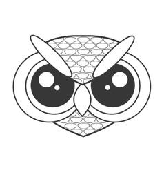 cute owl cartoon icon vector image